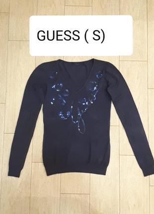 Оригинальня кофта пуловер от guess (s)