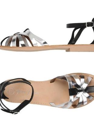 Кожаные итальянские босоножки сандали george j. love 38 р стелька 23,5 см
