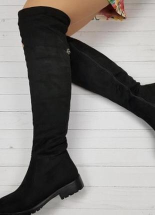 Новые черные зимние сапоги ботфорты размер 36,37,38,40