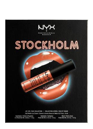 Косметический набор nyx city set lip, eye, & face collection stockholm