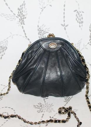 Кожаная сумка клатч marc chantal