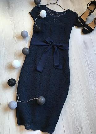 Мереживна сукня міді f&f