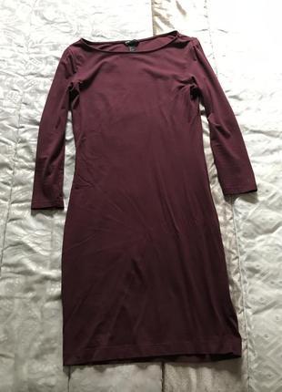 Платье марсал h&m