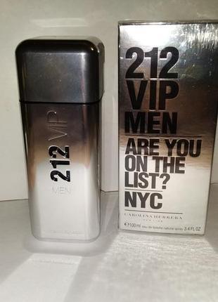 Carolina herrera 212 vip men. мужская туалетная вода 100ml.