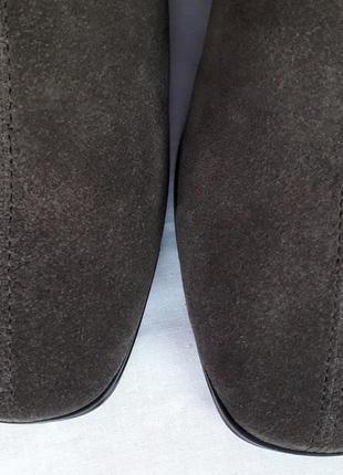 Крутая брендовая обувь! темно-серые замшевые ботильоны #vagabond. р-р 385 фото