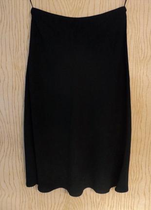 Юбка черная до колена классическая клеш миди офисная летняя весенняя осенняя зимняя