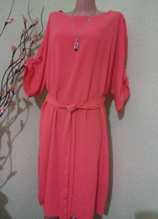 Эффектное платье-реглан большого размера 52-54,18-20 uk плаття,сукня
