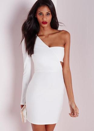 Идеальное платье с одним рукавом в строгос стиле missguided ms580