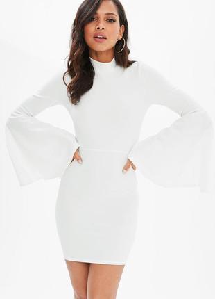 Невероятное стрейч платье по фигуре с рукавами воланами missguided
