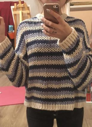Вязаный свитер {oversize}