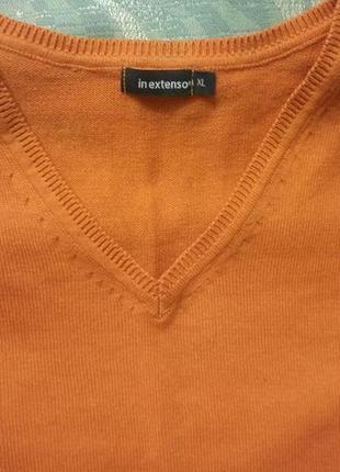 Красивый новый мужской пуловер с v-вырезом 48-50/xl  размера