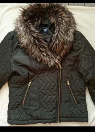 Классная курточка косуха с мехом