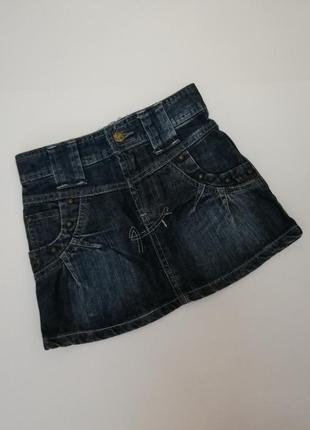 Стильная джинсовая юбочка на 4 года
