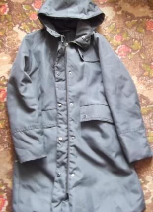 Теплая уютная непродуваемая базовая парка куртка осень-теплая зима на синтепоне свободная