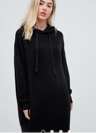 Вільне плаття-джемпер з капюшоном
