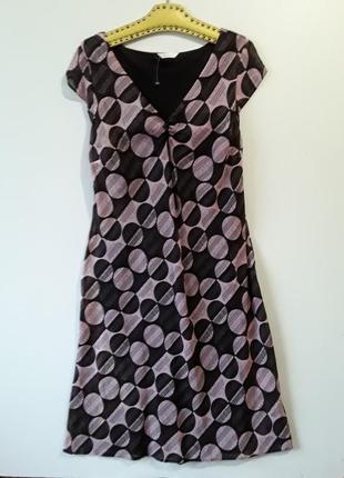 Платье в пол с вискозы в горох