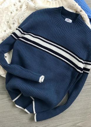 Крутий светрик пильно-синього кольору, 60% шерсть