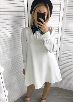 Плаття-сорочка з гобеленовим комірцем5