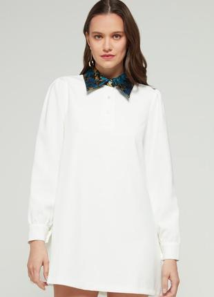 Плаття-сорочка з гобеленовим комірцем4