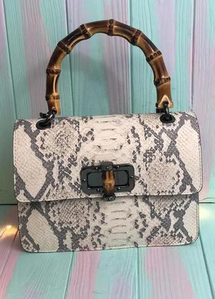 Кожаная женская сумка (италия)