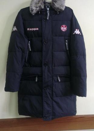 Куртка удлинённая пуховая\ пальто мужская kappa, s