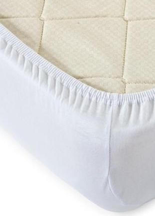 Хлопковая белая простынь на резинке от dormia, германия, р-р 100*200 или 90*200