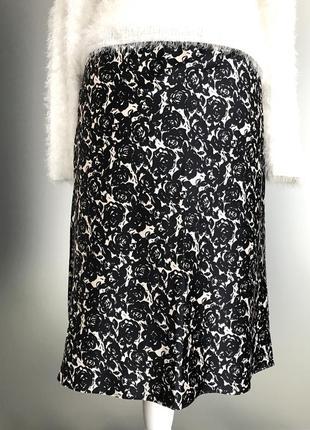 #юбка миди#нарядная атласная юбка#а-силуэт🎄🎄🎄 12р(l)