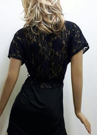 Халат женский с гипюром короткий размеры 42, 44, 46, 48