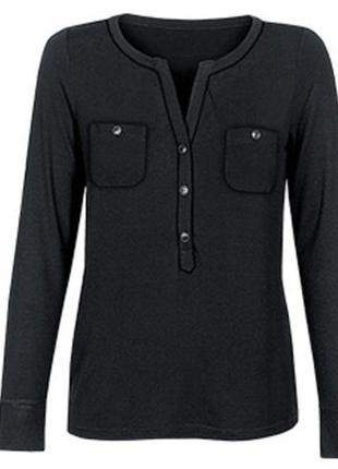 Трикотажная блуза рубашка реглан l 44 46 blue motion германия цвет чёрный