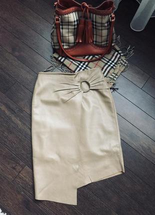 Шикарная кожанная юбка, mango, размер с/хс
