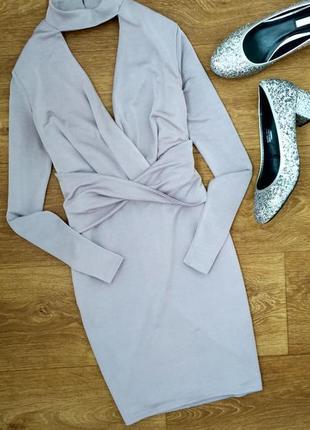 Платье вечернее облегающее короткое с чокером miss selfridge