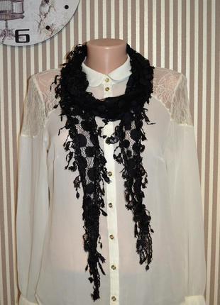 Стильный ажурный шарфик