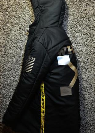 Модный пуховик / парка / куртка off-white. в наличии размеры s - хl! оригинальные бирки!