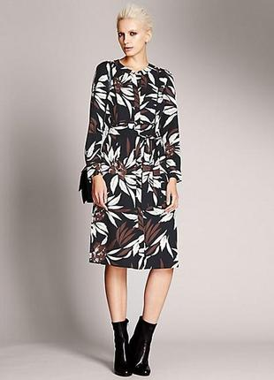 Шикарное платье-рубашка размер 12