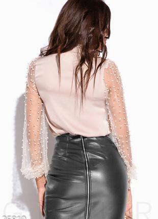 Шикарная нарядная блуза с жемчугом от gepur