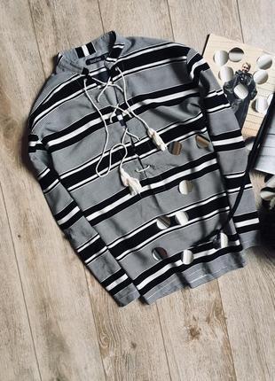 Блуза на зав'язках від boohoo🖤🖤🖤