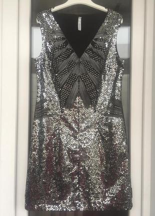 Firetrap красивое расшитое платье размер м-л