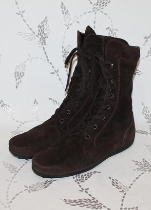 Оригинальные замшевые ботинки от tods 40 размер 26,5 см стелька