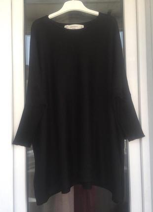 Zara мягкий свитер с металлической нитью оверсайз
