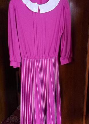 Justine,винтажное платье с воротником и юбкой плиссе,рр.м-л.