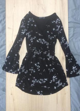 Красивое платье bohoo цветочный принт