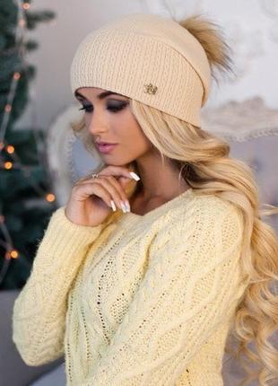 Зимняя шапка колпак braxton венера
