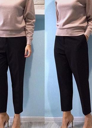 M&s мягкие укороченные брюки с лампасами размер л(46)