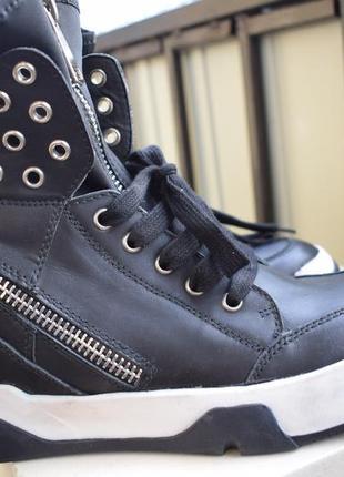 Кожаные ботинки италия р.38 24,8 см studio italia ручная работа