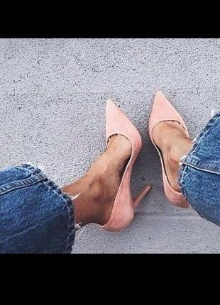 Шыкарные туфли на шпильке лодочки цвет пудра