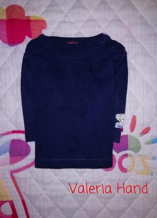 Трикотажный лонгслив - футболка с длинным рукавом - кофточка - возраст 0-3 месяца