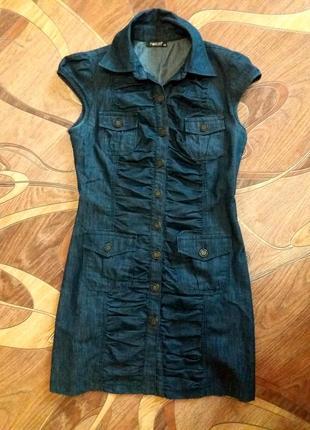 Распродажа!!!! джинсовое платьице присобранное впереди