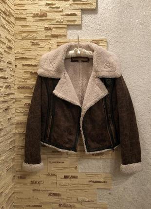 Дубленка авиатор куртка на меху