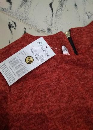 Новое теплое платье польша ангора софт с камнями и кружевом3