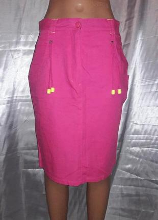 Яркая коттоновая юбка